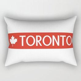 Toronto (White Maple Leaf) Rectangular Pillow