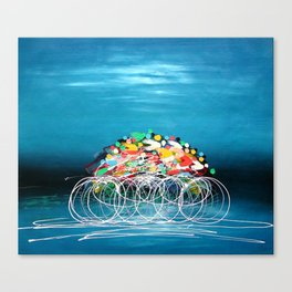 Bicycle Races Canvas Print