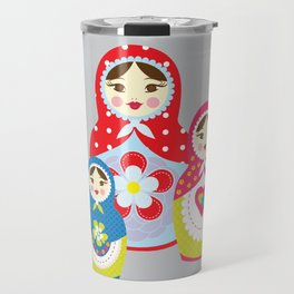 babushka , matryoshka , russian doll , nursery decor , children gift, birthday gift Travel Mug