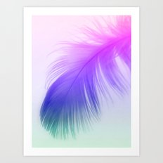 Painted Feather Art Print