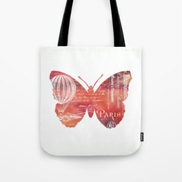 A Butterfly In Paris Tote Bag
