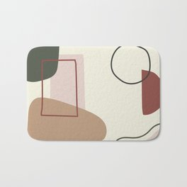 live with love - on ebony backgroung Bath Mat