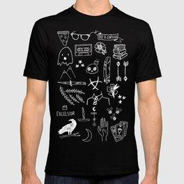 ravens doodles white T-shirt