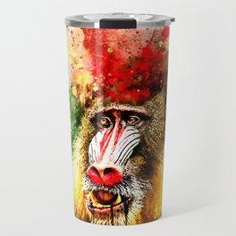 baboon monkey wsstd Travel Mug
