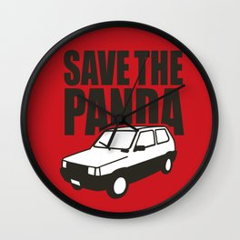 Save the Panda Wall Clock