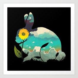 Rabbit Sky Art Print
