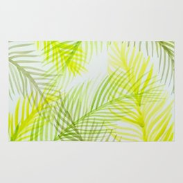 Painted Palm Fronds Rug