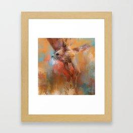 Crazy First Flight Framed Art Print