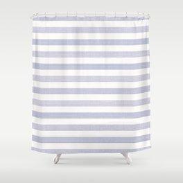 Blue n White Stripe Shower Curtain