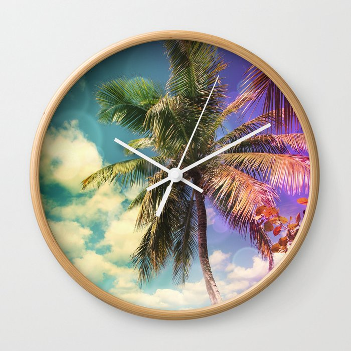 Prismatic Palm Wall Clock