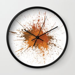 Splatter #12 Wall Clock