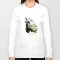 geisha Long Sleeve T-shirts featuring Geisha by Hypathie Aswang