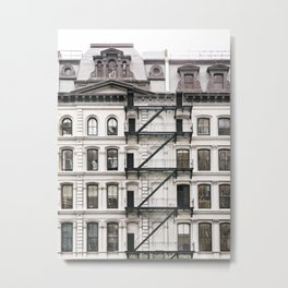 Tribeca Fire Escapes - New York Architecture Photography Metal Print