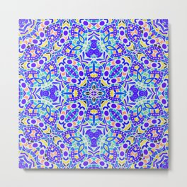 Arabesque kaleidoscopic Mosaic G513 Metal Print