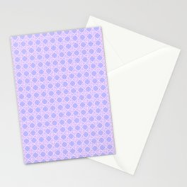 Cane Rattan Lattice in Lilac Stationery Cards