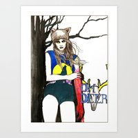 howl Art Prints featuring Howl by Jessica Tobin