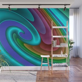 whirls of color -01- Wall Mural