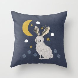 Serene Jackalope Throw Pillow