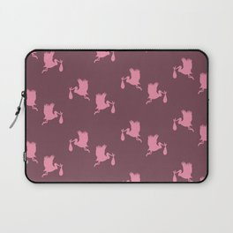 Pink storks pattern Laptop Sleeve