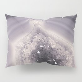 Grey and Black Agate Geode Crystal Crystals Pillow Sham