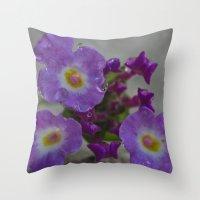 bath Throw Pillows featuring Bath by Nicole Stamsek