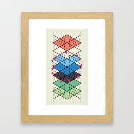 Fractal pattern Framed Art Print