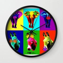 THC Hear See Speak Wall Clock