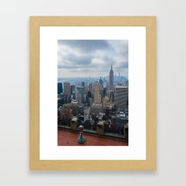 Top Of The Rock Framed Art Print