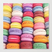 macarons Canvas Prints featuring Macarons by Sankakkei SS