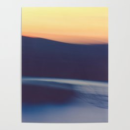 Mountain Sunrise Over Lake - Long Exposure Abstract Poster