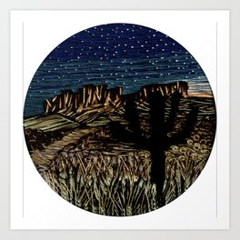 Desert New Moon Art Print