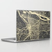 portland Laptop & iPad Skins featuring Portland Map by Map Map Maps