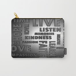 Chrome Words Carry-All Pouch