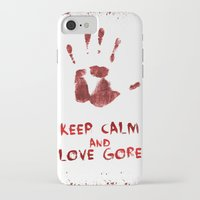 gore iPhone & iPod Cases featuring Love Gore by Victor Rodriguez