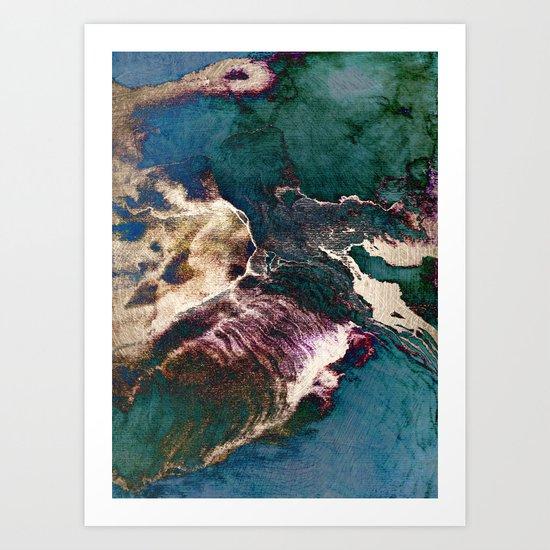 surreal map Art Print