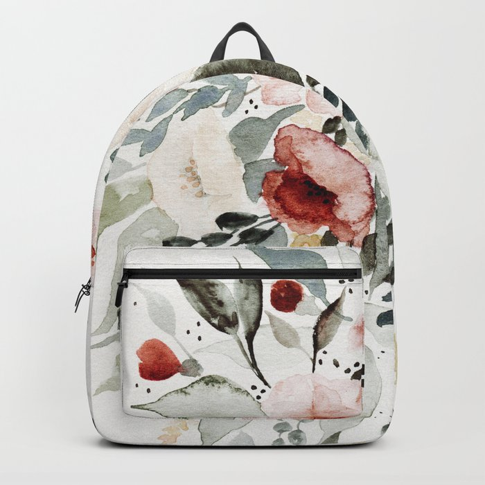 Loose Watercolor Bouquet Backpack