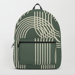 Minimalist Lines in Forest Green Backpack
