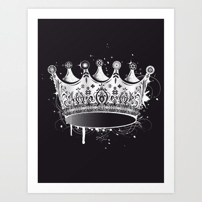 Crown in graffiti style Art Print by namosh