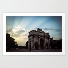 Paris, The arc of triumph of the carrousel. Art Print
