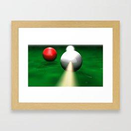 Billiards in the rough Framed Art Print