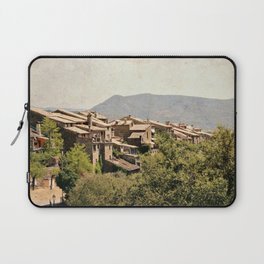 Little vintage town between forest and mountain Laptop Sleeve