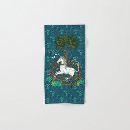 Unicorn Tapestry: the Unicorn in Captivity Hand & Bath Towel