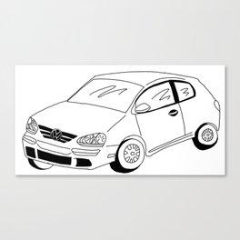 My Friends' Cars - The Rabbit Canvas Print
