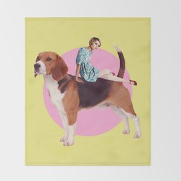 Twiggy and the Pups | Beagle Throw Blanket