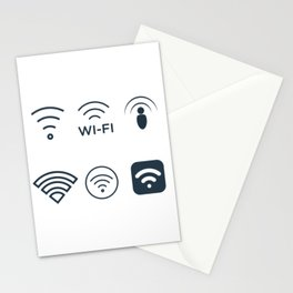 Wifi Signals Stationery Cards
