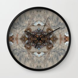 Elegant Seaweed Mandala-esque (#30b) Wall Clock