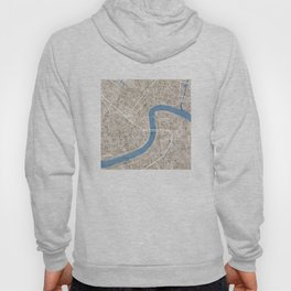 New Orleans Cobblestone Watercolor Map Hoody