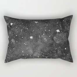 Watercolor galaxy - black and white Rectangular Pillow