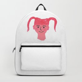 """Poppy"" Cute girl with pig tails and rosy cheeks Backpack"