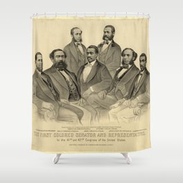 The First Colored Senator and Representatives Shower Curtain
